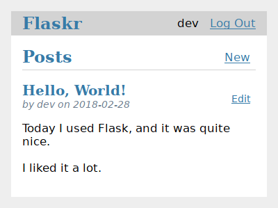 Tutorial — Flask Documentation (1 1 x)